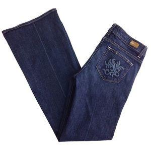Paige Wide Leg Flare Robertson Jeans Sz 28